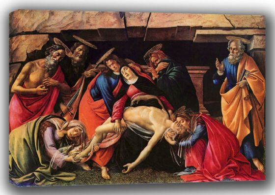 Botticelli, Sandro: The Lamentation (Passion) of Christ. Fine Art Canvas. Sizes: A4/A3/A2/A1 (001466)